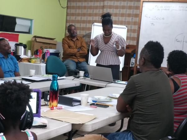 """Pinelands Creative Workshop """"Social Enterprise Approach to Eco Tourism Project"""" with funding support from the Global Environment Facility (GEF) Small Grants Programme (SGP) implemented by UNDP - March 2020"""