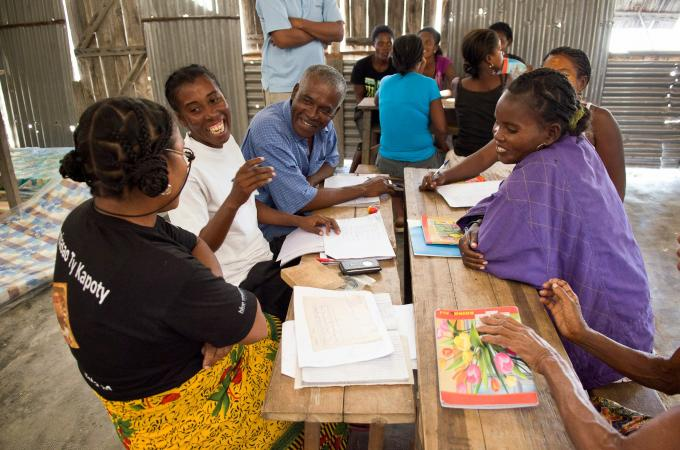 Aquaculture training session