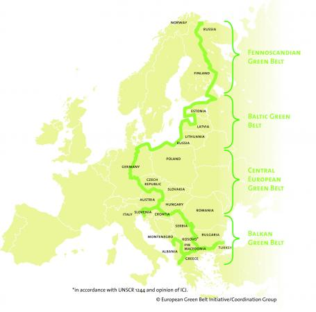 Map Green Belt © European Green Belt Association