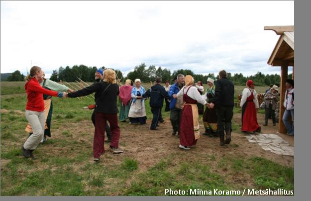 Celebrating cooperation and cultural heritage in Paanajärvi National Park, Russia. Photo: Minna Koramo / Metsähallitus Parks & Wildlife Finland