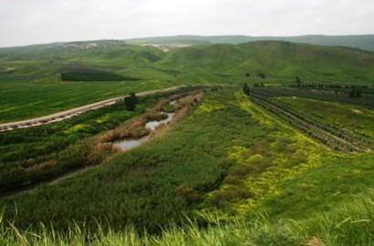 Meandering Jordan River
