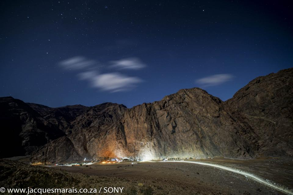 Spectacular Gamkab Campsite on Day 3 of the Desert Knights Mountainbike Tour, photo by Jacques Marais