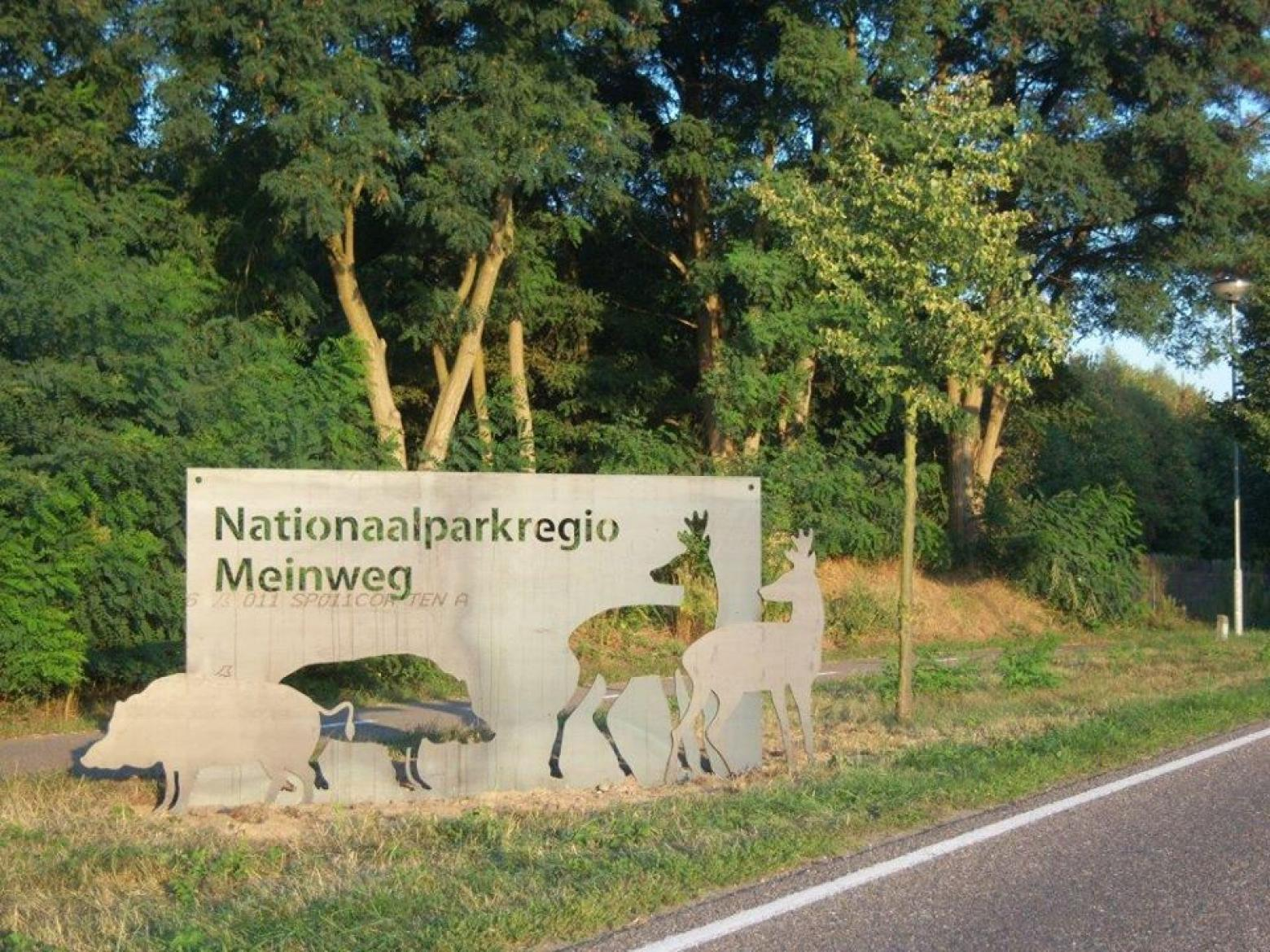 One of the new signs at the entrance of the National Park Region