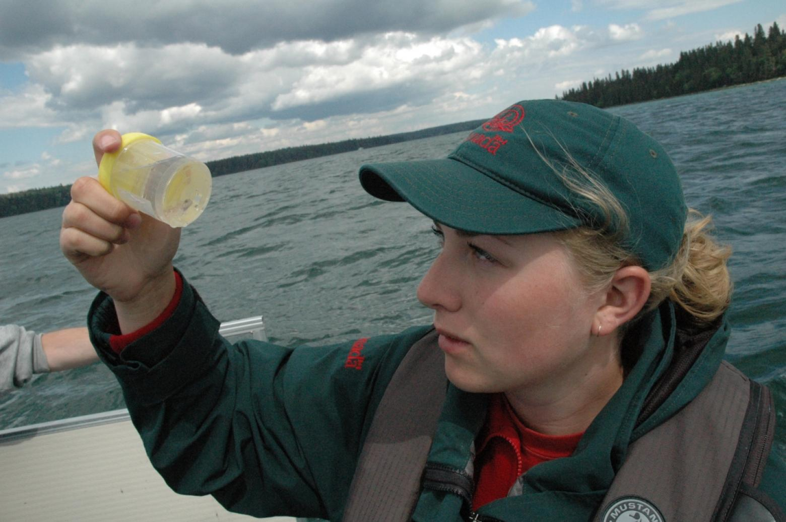 Park ranger conducting monitoring activities © Parks Canada